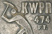 Detail of a Snowy Mountains Australia medal