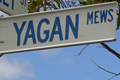 Street sign that reads 'Yagan Mews'