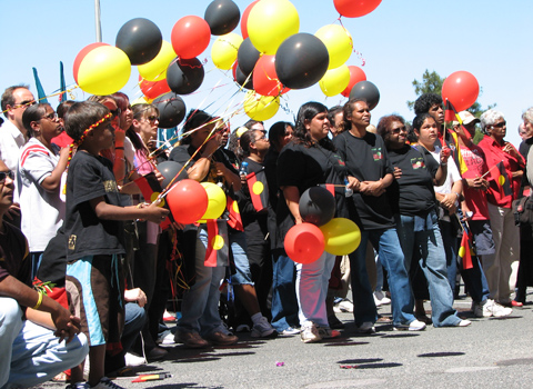 Noongar rally at Parliament House, Perth 2006