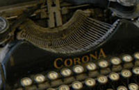 Details of a Corona typewriter.