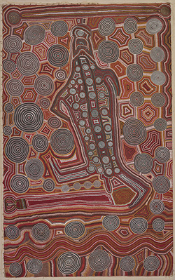 Aboriginal 'Yumari' dot painting.