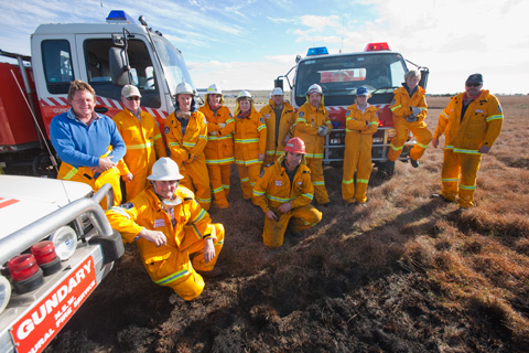 Gundary Rural Fire Brigade volunteers.