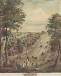 Painting of Collins Street, Melbourne in 1839
