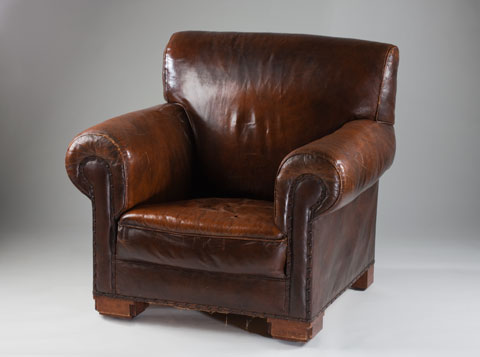 The chair after conservation treatment.