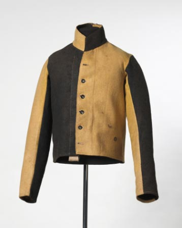 Yellow and black convict jacket