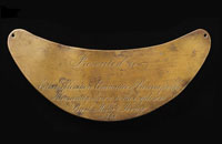 A breastplate from the Victorian Exploration Committee presented to the Yandruwandha people of Cooper Creek as a token of appreciation for the care they extended to Burke, Wills and King.
