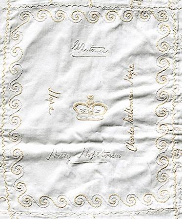 Hopetoun detail in centre of quilt