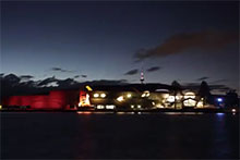 The Museum at night, from across the lake