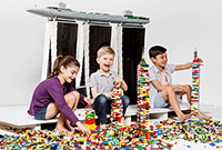 Children playing with LEGO® Bricks.