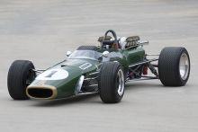 Dark green open-wheeled racing car