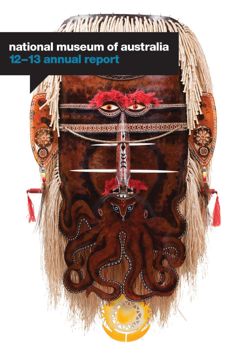 Cover of the National Museum's 2012-13 Annual Report featuring Sugu Mawa artwork, 2011, by Alick Tipoti.
