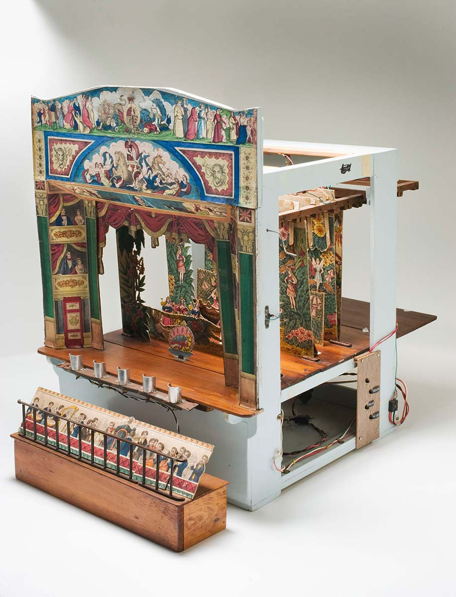 Side view of toy theatre - click to view larger image