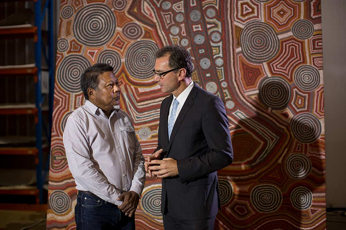 Mr Peter Yu, Chair of the Museum's Indigenous Reference Group, and Dr Mat Trinca, Director of the Museum.