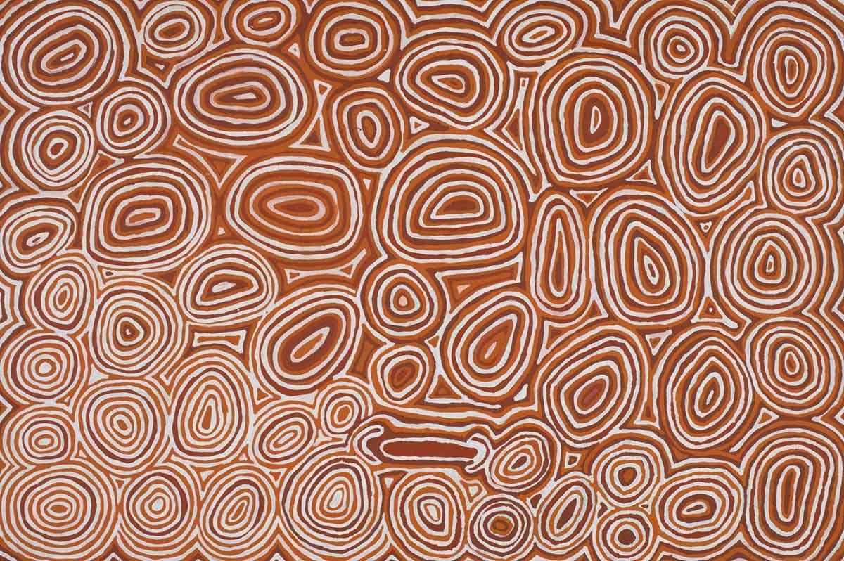 Kapitu Kapitu by Norma Giles, Kayili Artists, 2008. Acrylic on linen. - click to view larger image