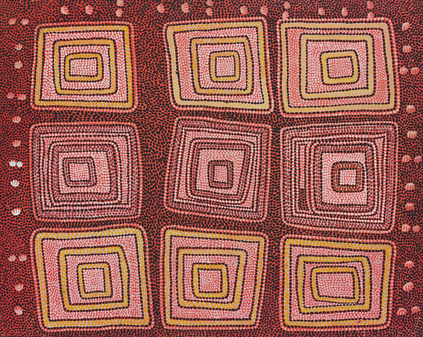 Aboriginal painting.