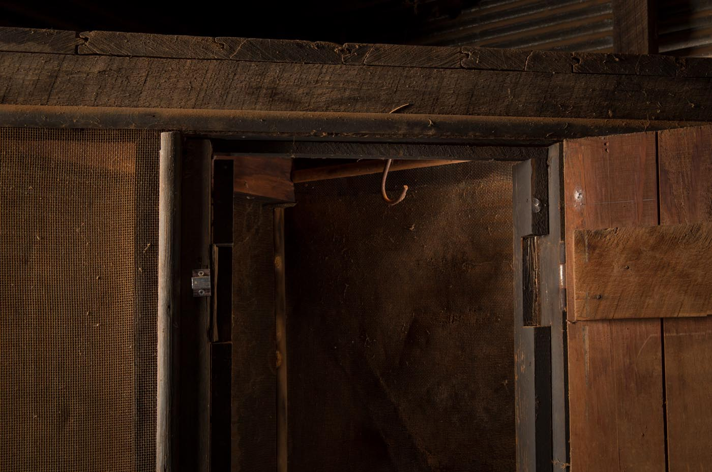 Meat safe with one door open. - click to view larger image