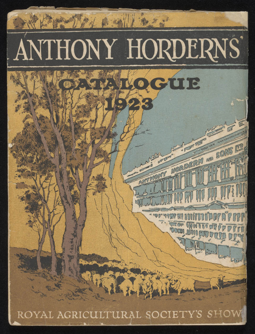 Back cover of Anthony Hordern's store catalogue, 1923 - click to view larger image