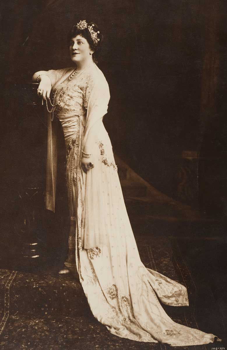 Studio portrait of Lillian Nordica