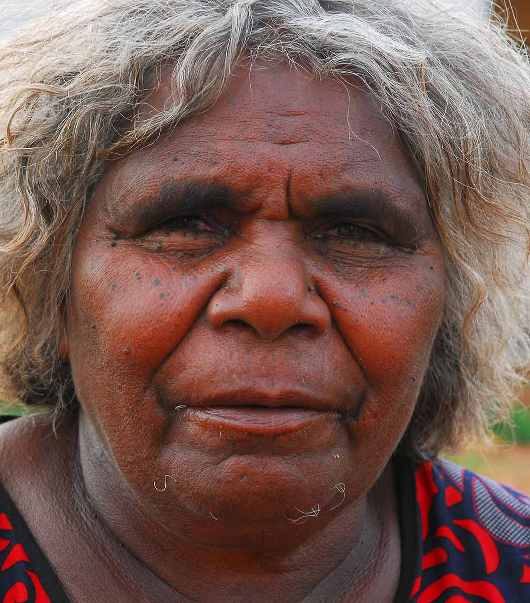 Portrait of Ngamayu Ngamaru Bidu. - click to view larger image