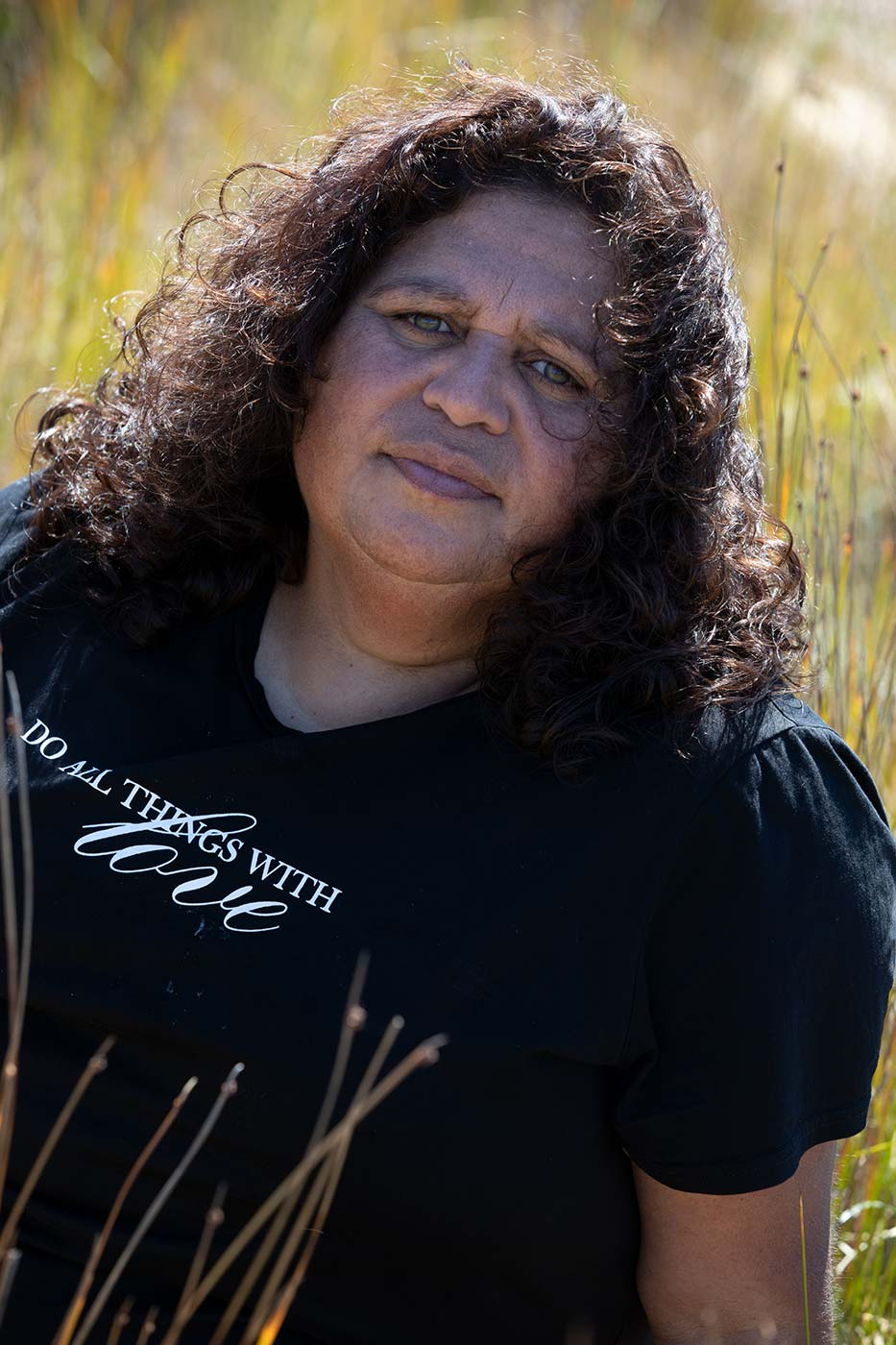 A portrait photo of Cheryl Davison, Aboriginal Creative Producer at Four Winds Festivals. - click to view larger image