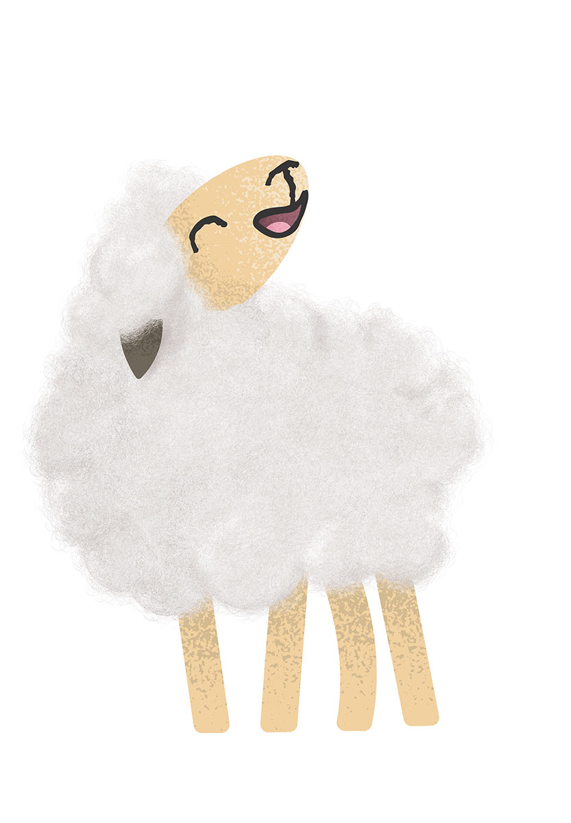 Digital illustration of a sheep. - click to view larger image