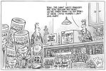 Cartoon of a firecracker shop selling many whizz bangers bearing Kevin Rudd's image. The salesman is trying to give away a box of John Howard fizzers.