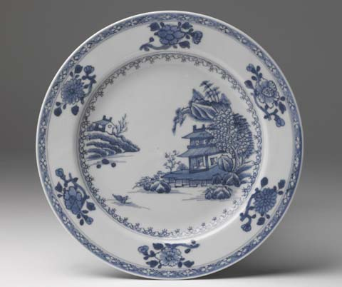 A decorative ceramic plate.