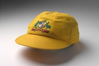 Yellow cricket cap