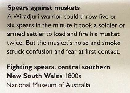 An image of the text panel 'Spears against muskets'.