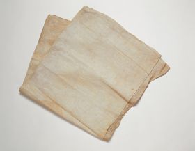 Thin barkcloth undecorated with a straight line watermark.