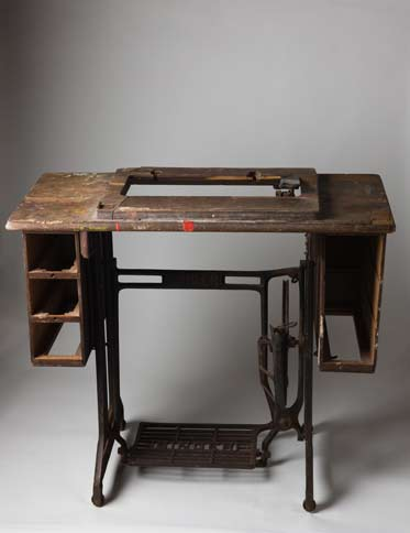 Singer sewing machine table c1950s