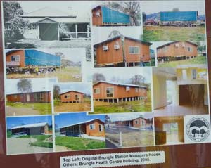 Photo mural of development of Brungle Health & Community Centre Building