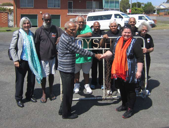Kinchele boys home gate being handed over to Museum staff