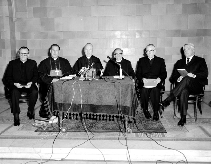 Press conference on birth control, St Mary's Cathedral, Sydney, 29 July 1968.