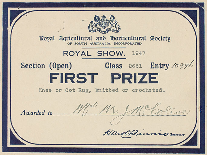 Early shows – First Place Award Certificate