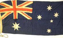 Australian flag before treatment