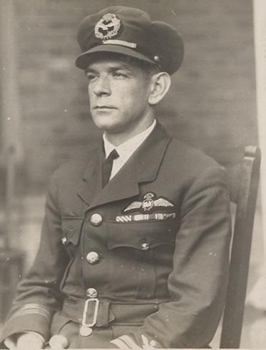 A black and white photograph of Charles Ulm in his RAAF uniform.