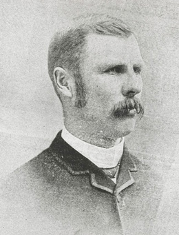portrait of moustached gent, probably in his thirties