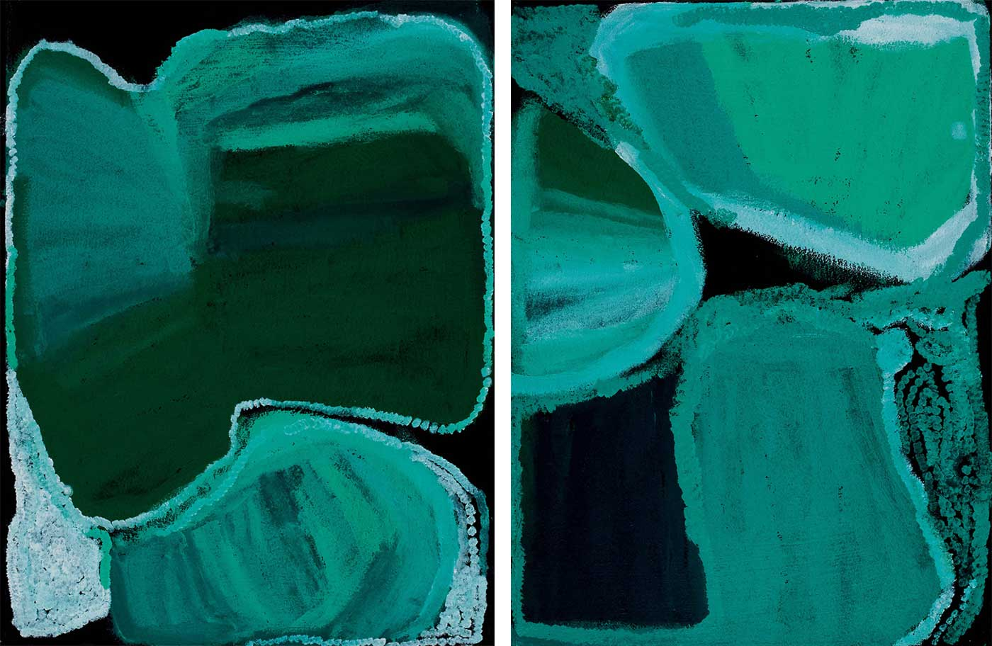 Kiriwirri, 2008, acrylic on linen painting - click to view larger image