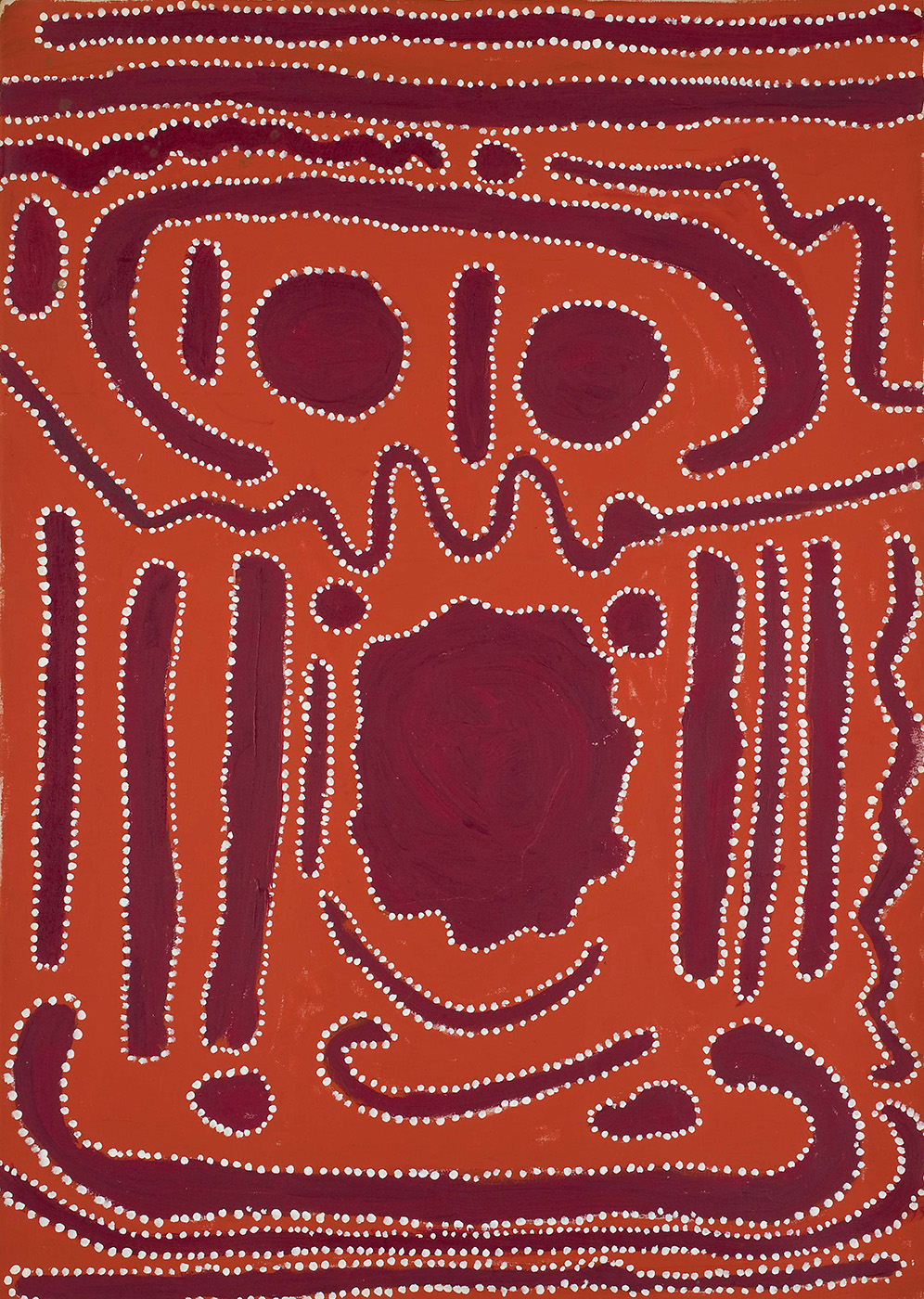 Kumpupirntily, 2008, acrylic on canvas painting - click to view larger image