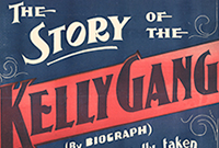 cropped image of poster - 'The Story of the Kelly Gang, commencing Saturday Nov 26, Anderson's Olympia Theatre'