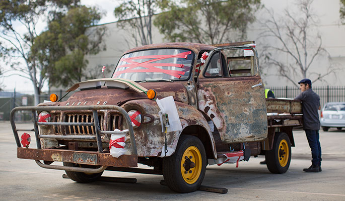 Rusted Bedford truck