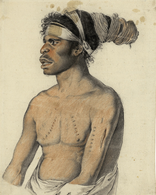 Portrait of a man from New Holland by Nicolas-Martin Petit