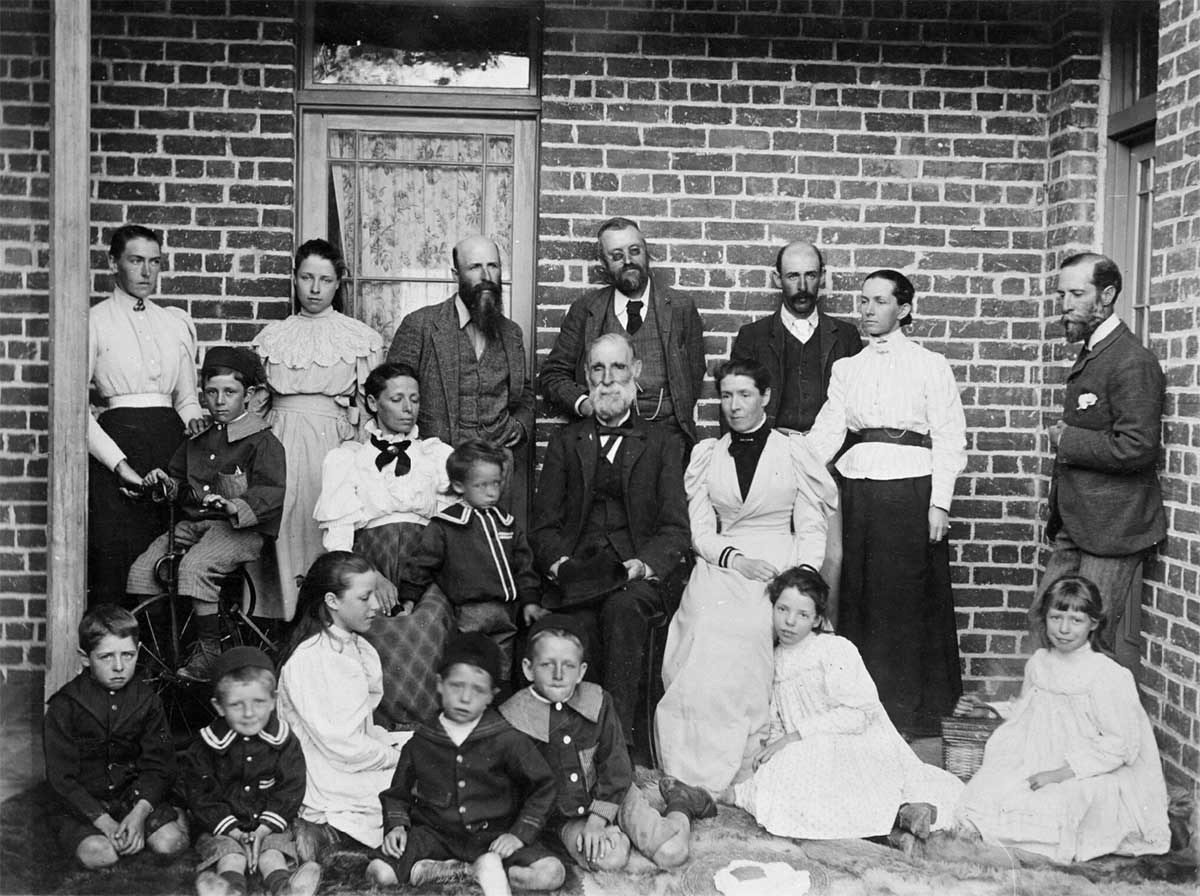 William Farrer with De Salis Family.