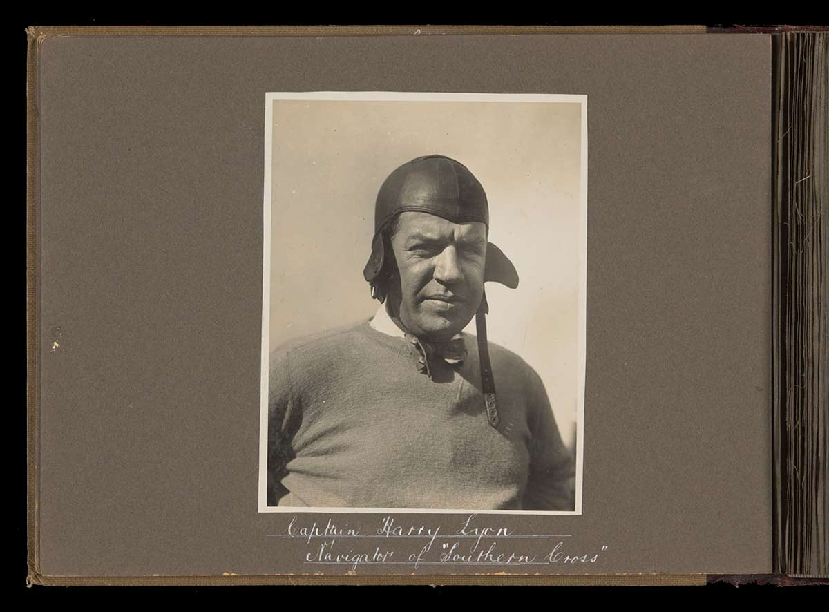 Head and shoulders portrait of Harry Lyon. - click to view larger image
