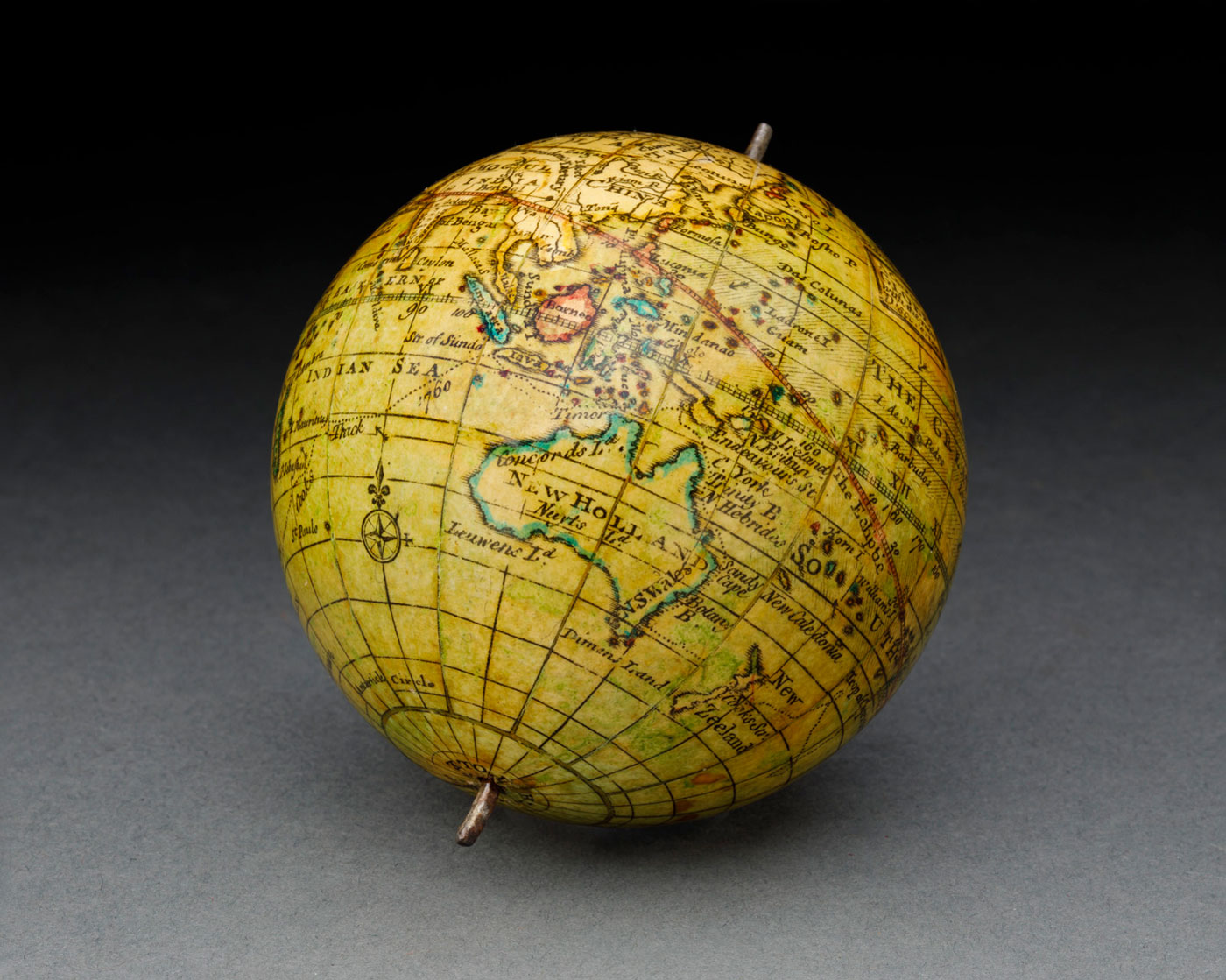 A papier-maché and plaster globe  - click to view larger image