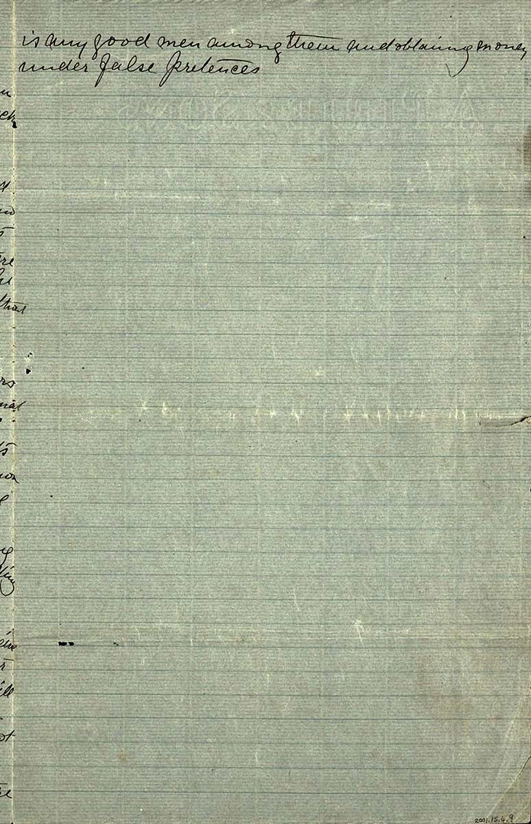 Page thirty five of Ned Kelly's Jerilderie letter. - click to view larger image