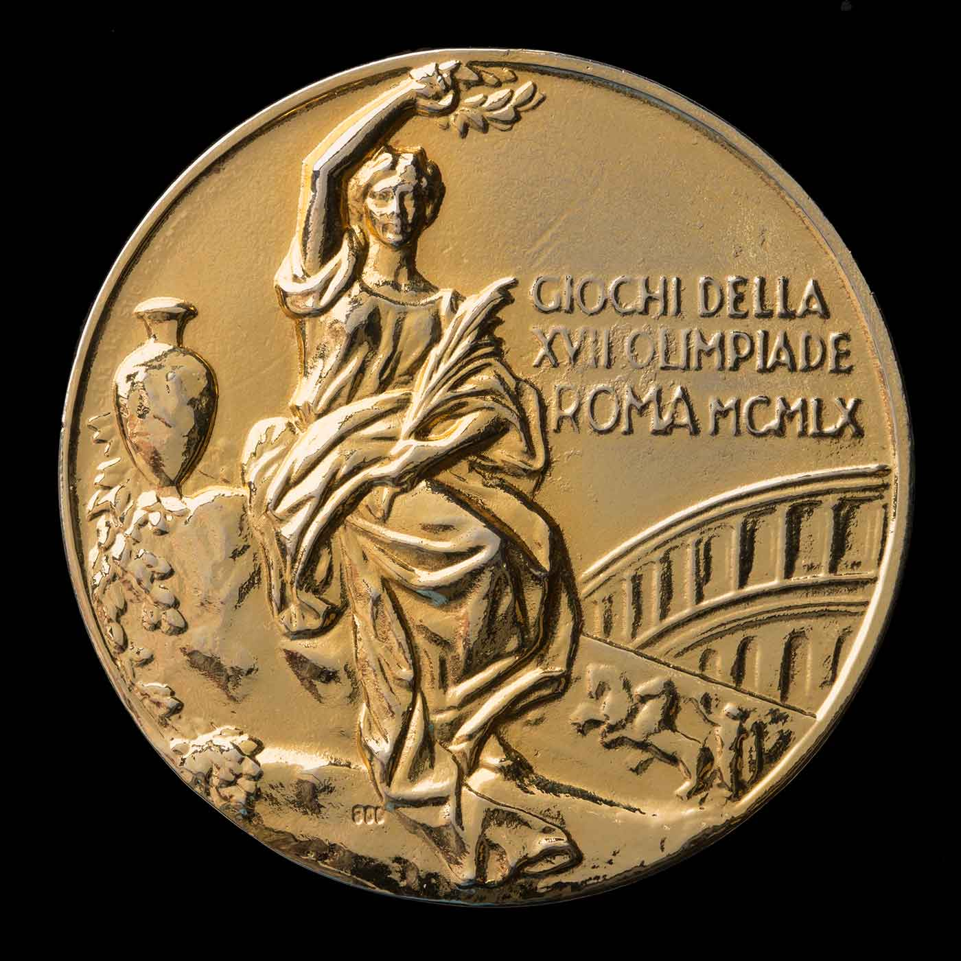 Neale Lavis' Team Gold Medal for winning the three day event at the Rome Olympics, 1960. - click to view larger image