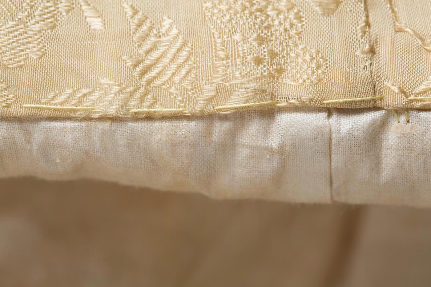 Hem detail. - click to view larger image