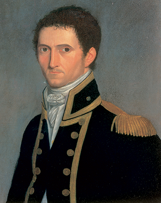 Captain Matthew Flinders 1806–07 by Toussaint Antoine de Chazal de Chamarel.  - click to view larger image